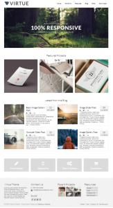 virtue tiene plantillas WordPress Responsive Gratis con Contenidos